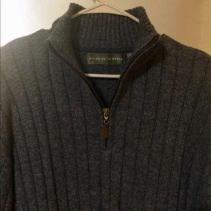 *New* XXL Oscar De La Renta 1/4Zip Sweater